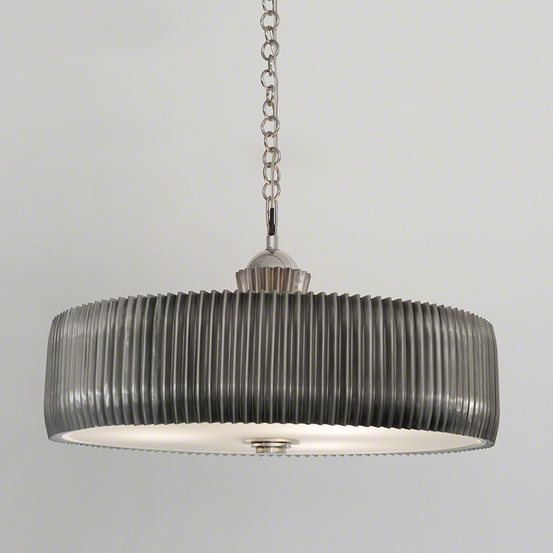 Crimp Chandelier-Antique Nickel