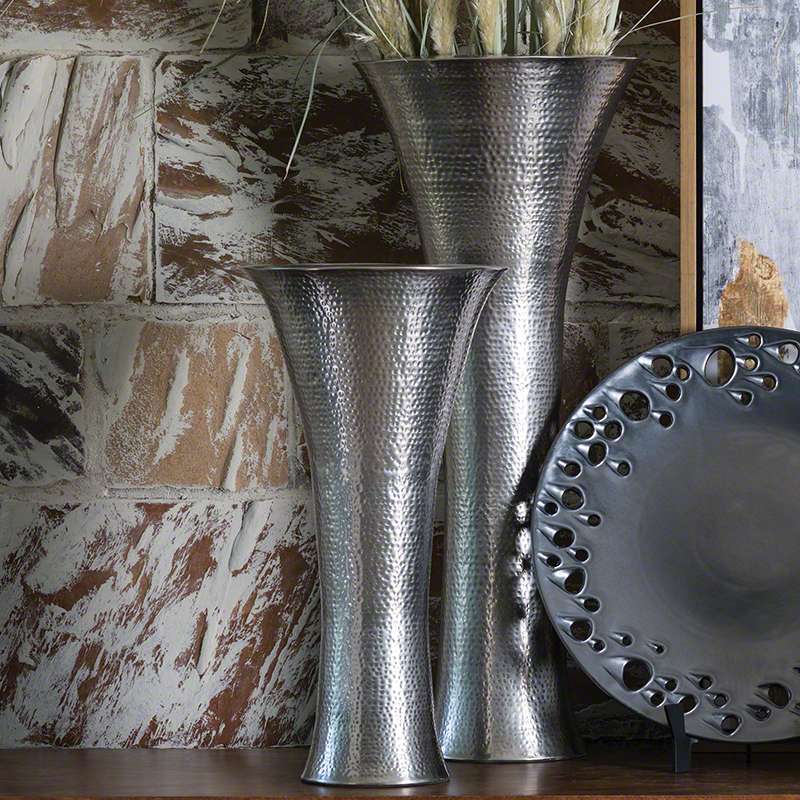 Indira Vase-Antique Nickel