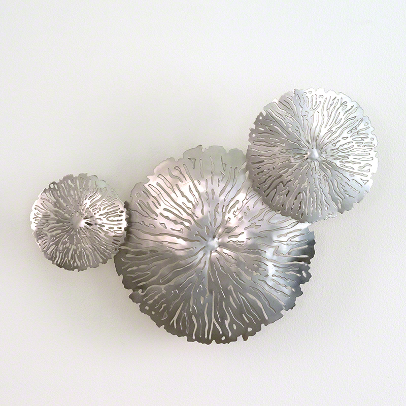 S/3 Lily Pad Clusters-Antique Nickel