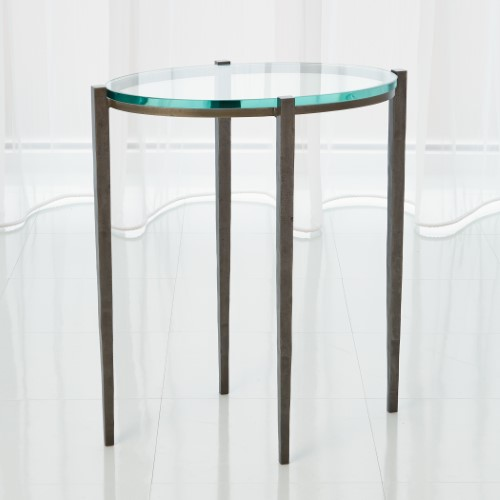 Petite Oval Accent Table-Natural Iron