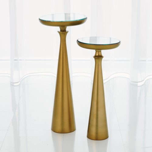 Minaret Accent Table-Satin Brass