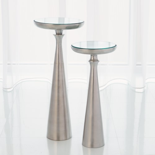 Minaret Accent Table-Satin Nickel