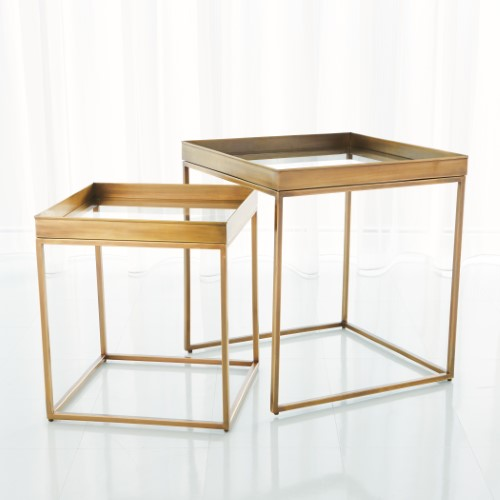 S/2 Perfect Nesting Tables-Antique Brass