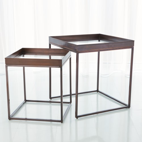 S/2 Perfect Nesting Tables-Bronze