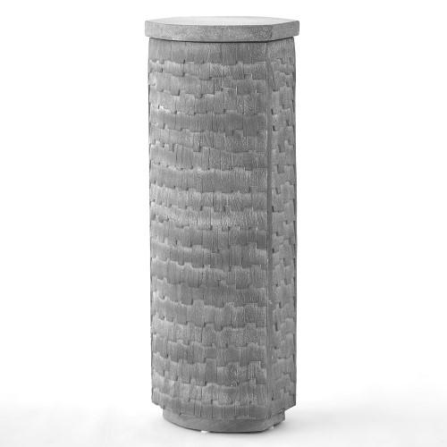 Shingles Pedestal-Grey w/Grey Terrazzo