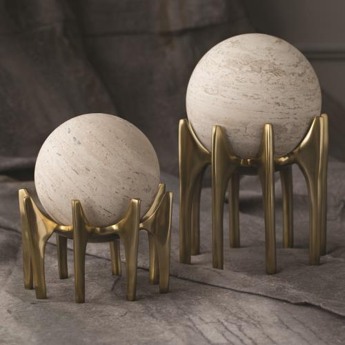 Aquilo Sphere Holder-Antique Brass