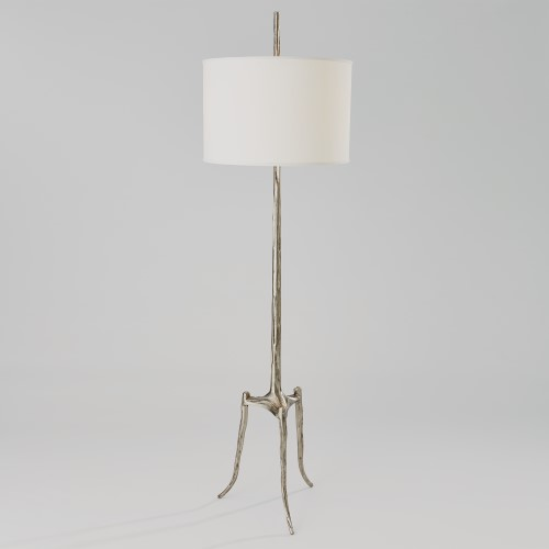 Trident Floor Lamp-Antique Nickel