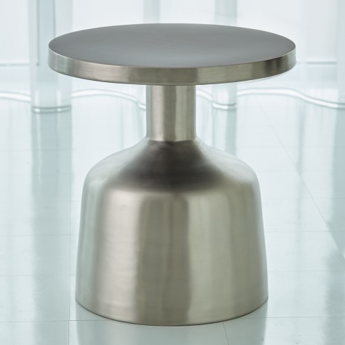 Neutra Accent Table-Satin Nickel
