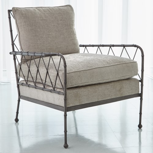 Bamboo Lounge Chair-Antique Grey-Atlas Sterling