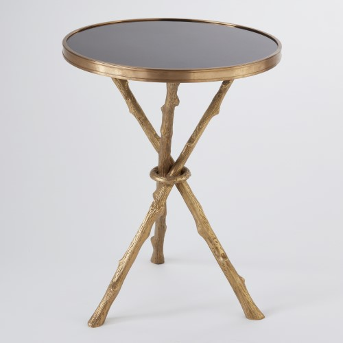 Twig Table-Brass w/Black Granite Top