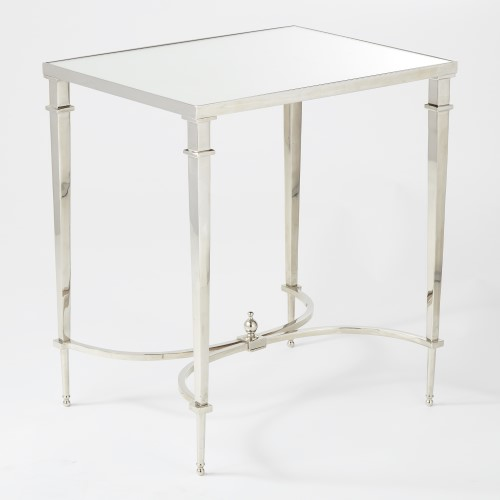 Rectangular French Square Leg Table-Nickel