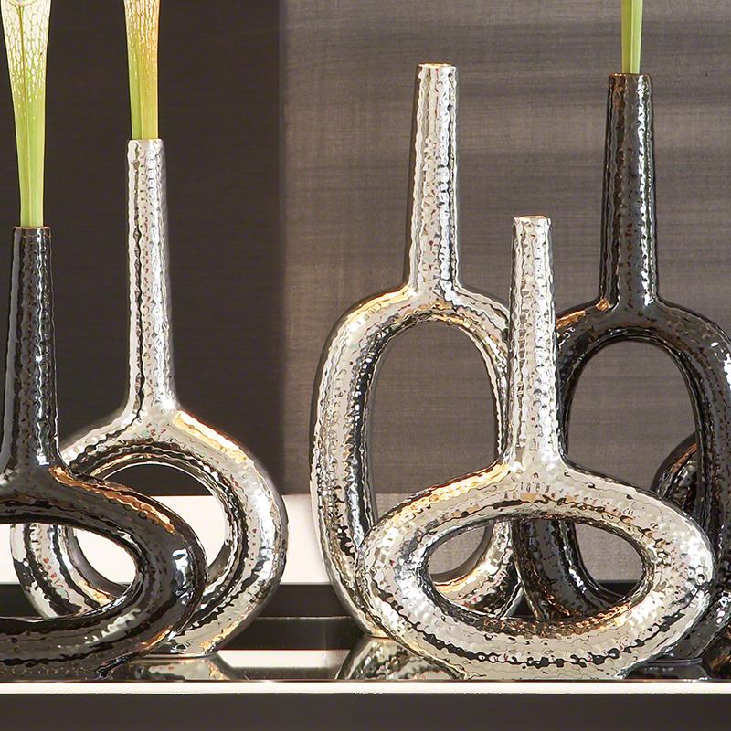 Keyhole Vase-Silver
