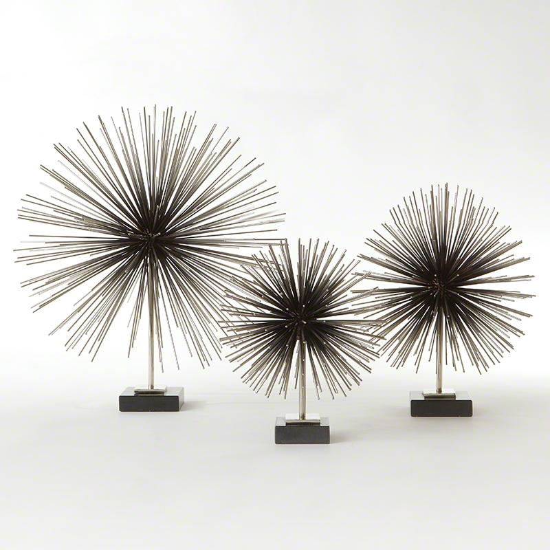 Boom Tabletop Sculpture-Nickel