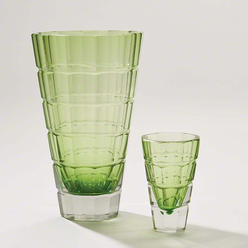 Grid Vase-Green