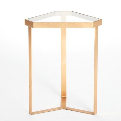Tri-Hex Table-Gold Leaf