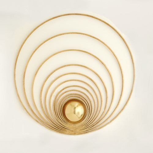 Radial Sphere Panel-Gold Leaf