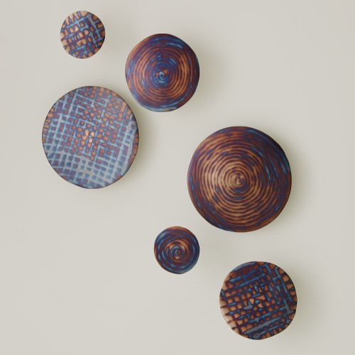 S/3 Torched Check Wall Discs
