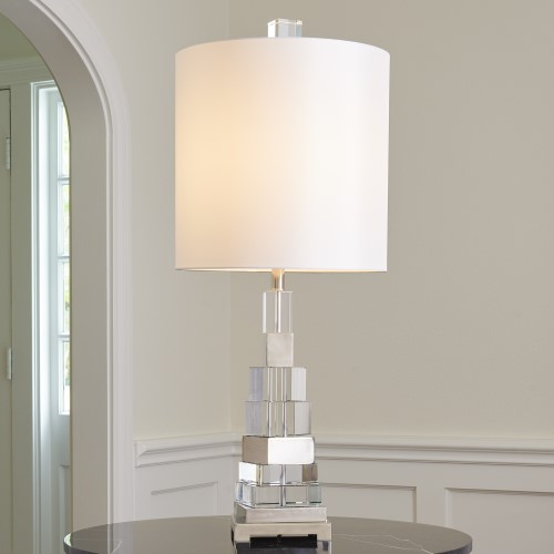 Twisted Crystal Lamp-Nickel