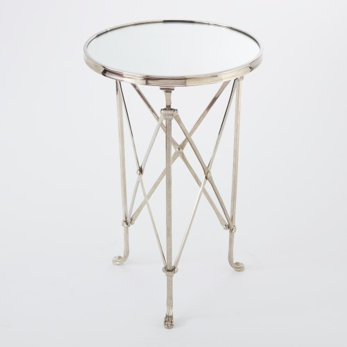 Directoire Table-Nickel w/Mirror Top