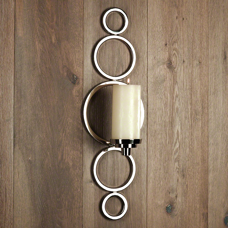 Progressive Ring Sconce-Nickel