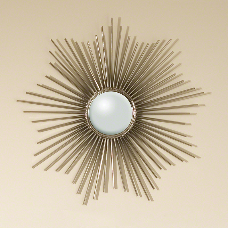 Mini Sunburst Mirror-Nickel