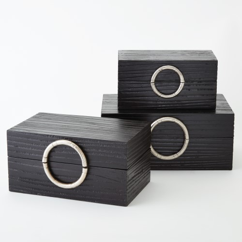 Artisan Jewelry Box-Black/Nickel