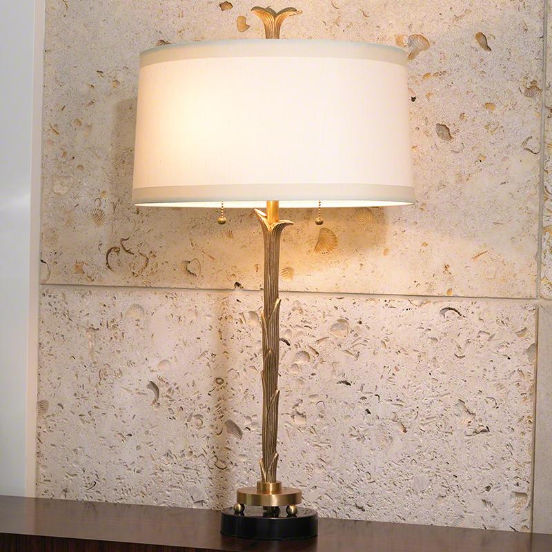 Organic Table Lamp-Antique Brass Finish