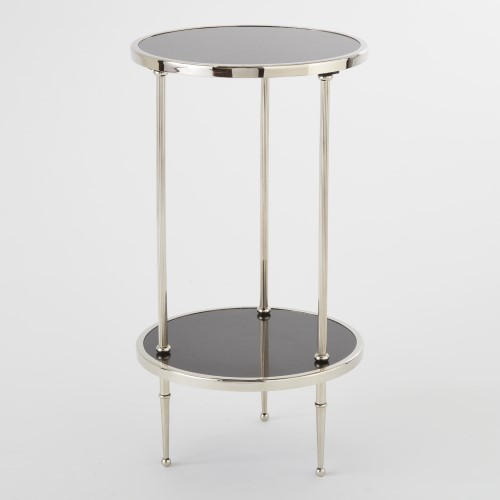 Petite 2 Tiered Table-Nickel