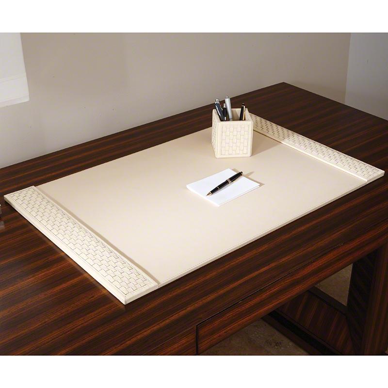 Woven Desk Blotter-Ivory