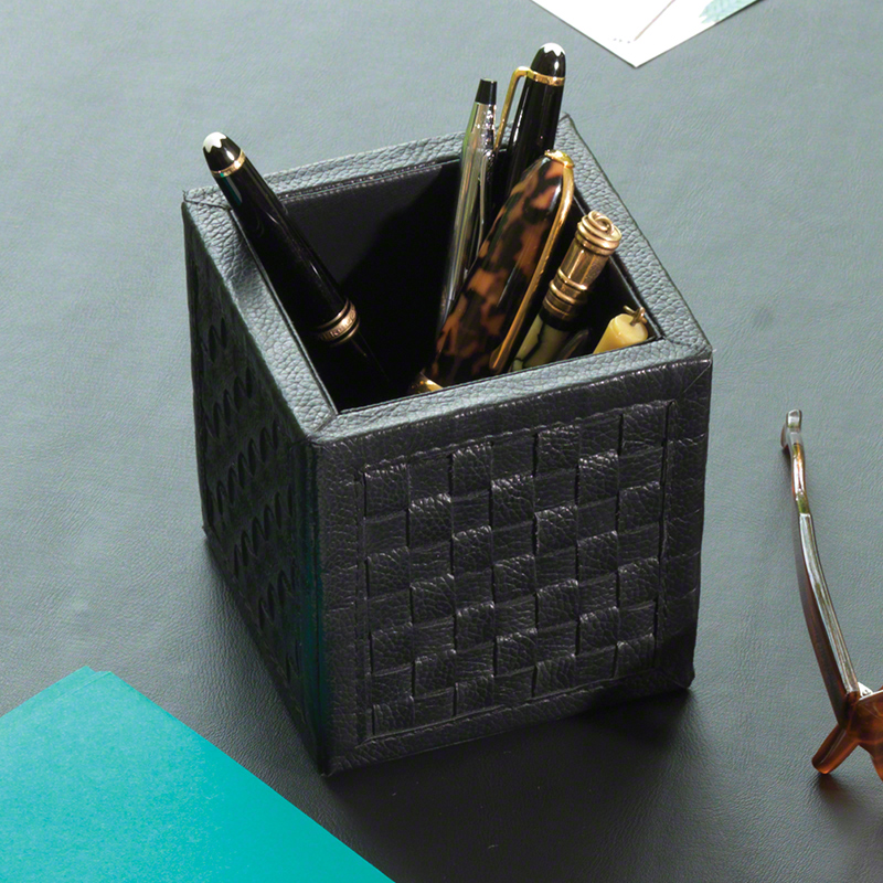 Woven Pencil Cup-Black