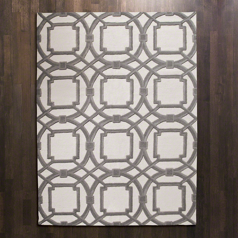 Arabesque Rug-Grey/Ivory