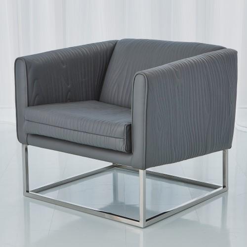 Faux Bois Tuxedo Chair-Grey