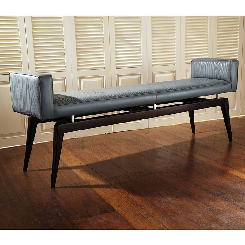 Faux Bois City Bench-Grey