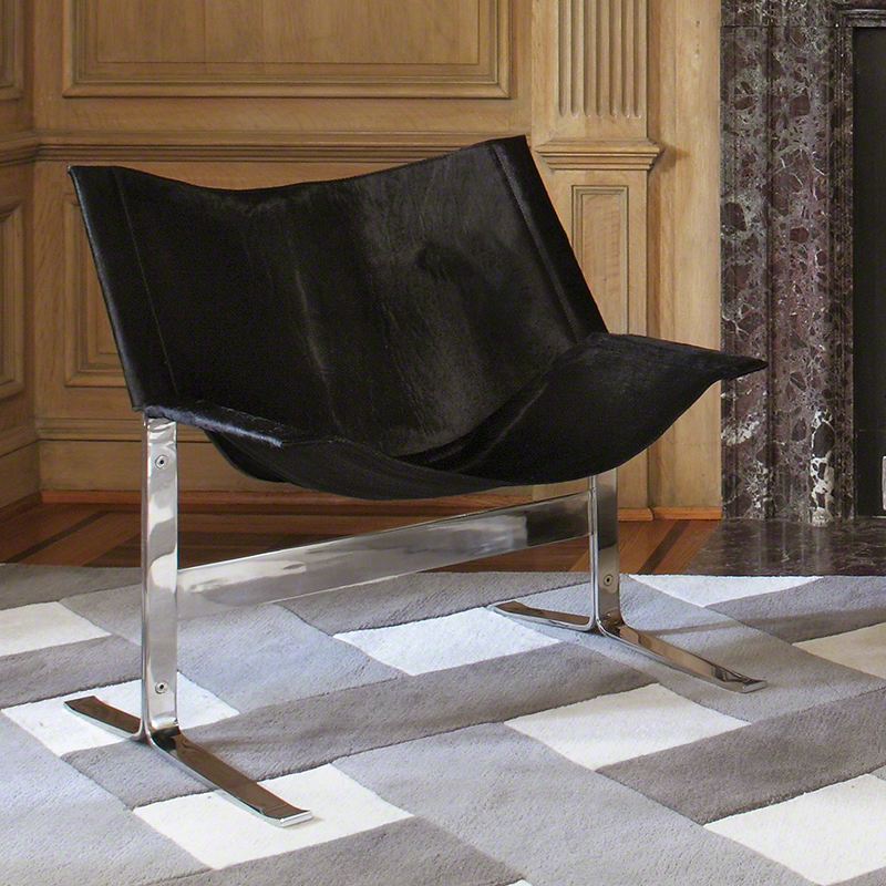 Cantilever Chair-Hair On-Black