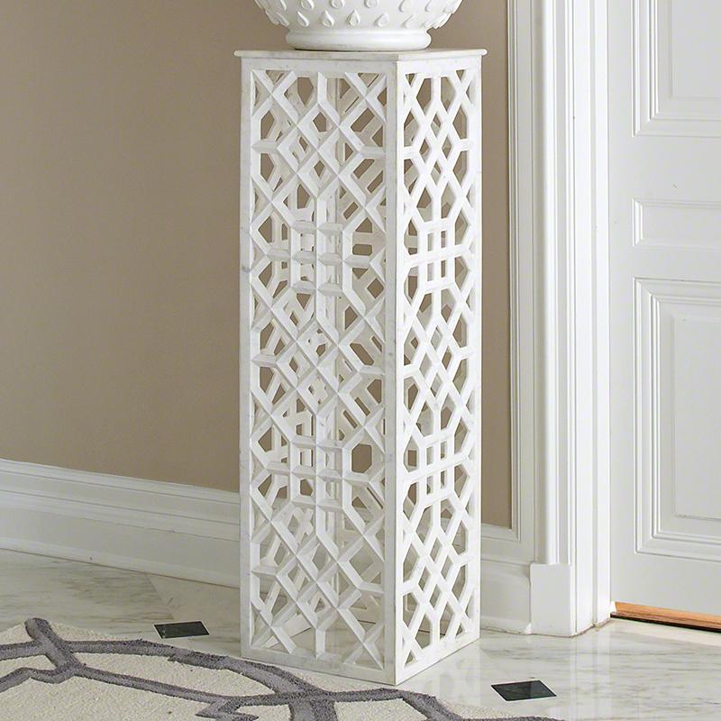 Marble Fret Pedestal