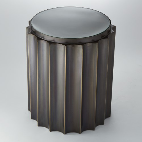 Fluted Column Table-Bronze