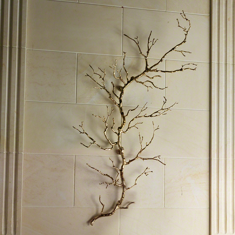 Twig Wall Art-Brass