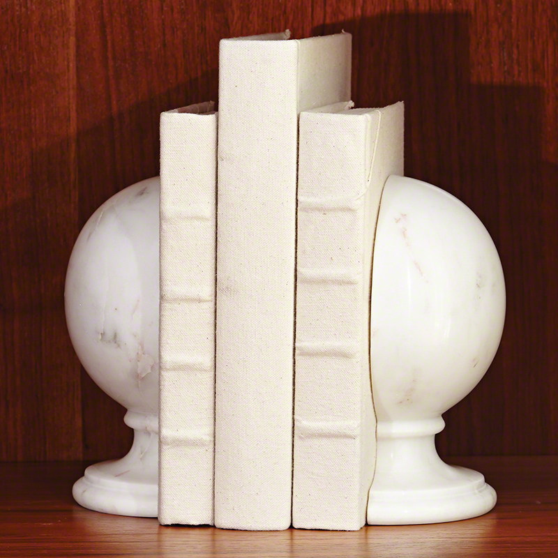 S/2 Marble Sphere Bookends