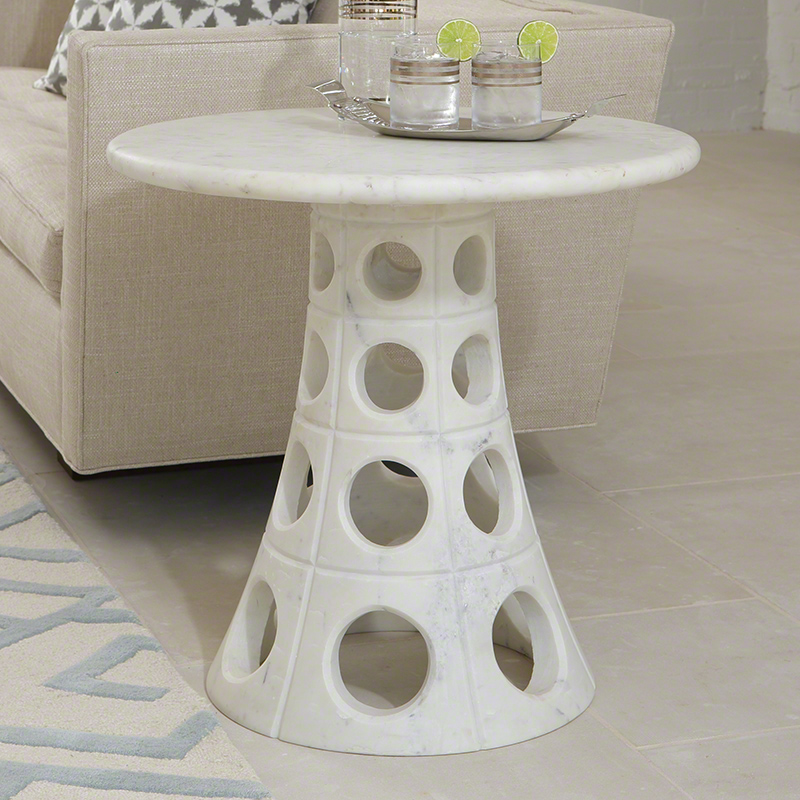 Taper Circle Side Table