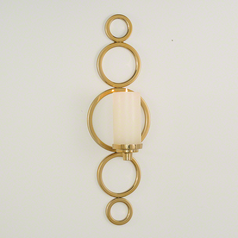 Progressive Ring Sconce-Brass