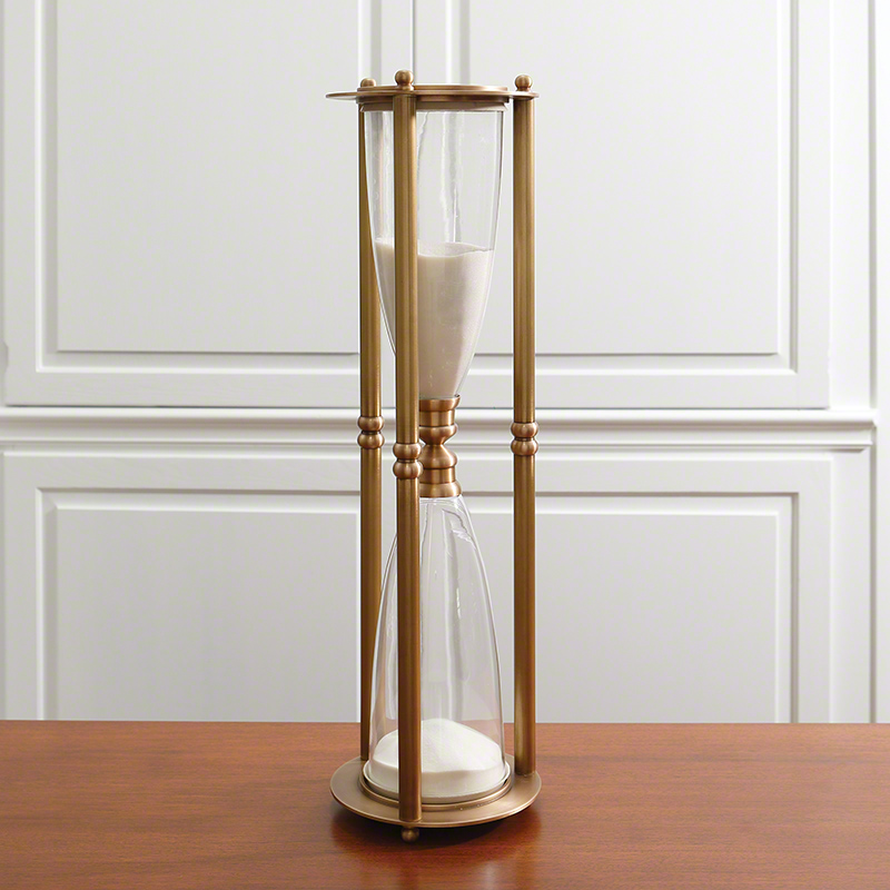 Hour Glass-Antique Brass