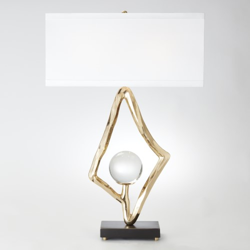 Abstract Lamp-Brass