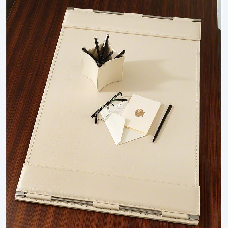 Flap Desk Blotter-Ivory