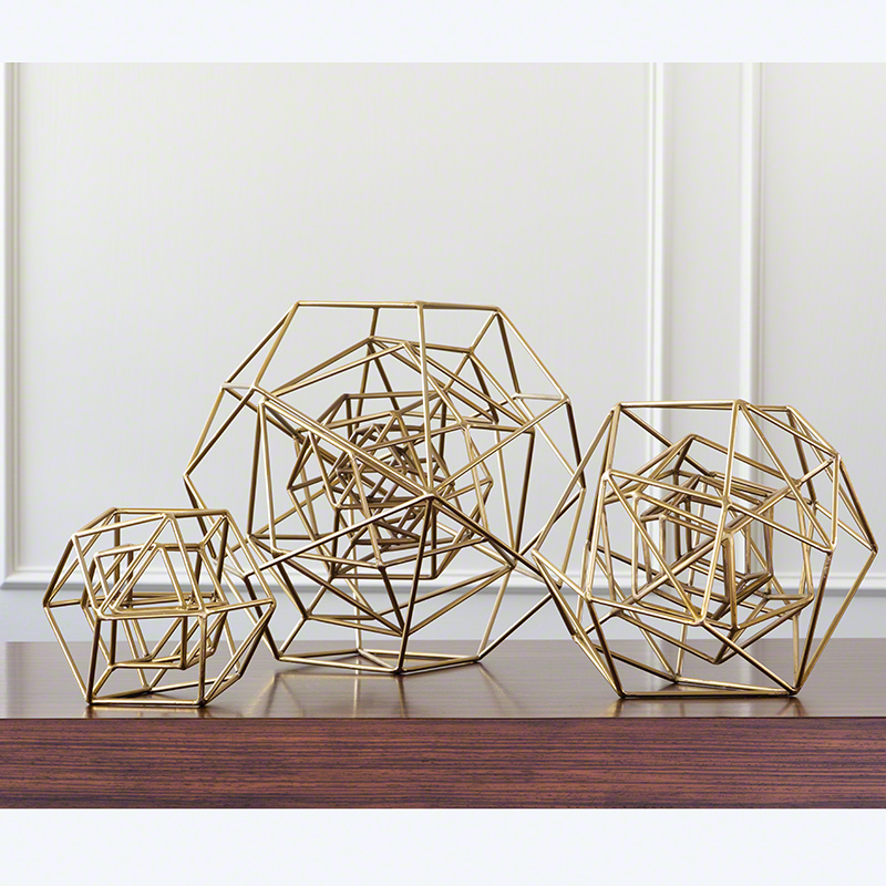Geo Sculpture-Gold