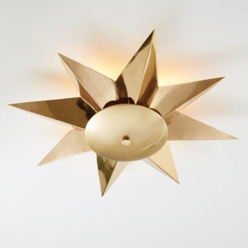 Klismos Ceiling Fixture-Brass