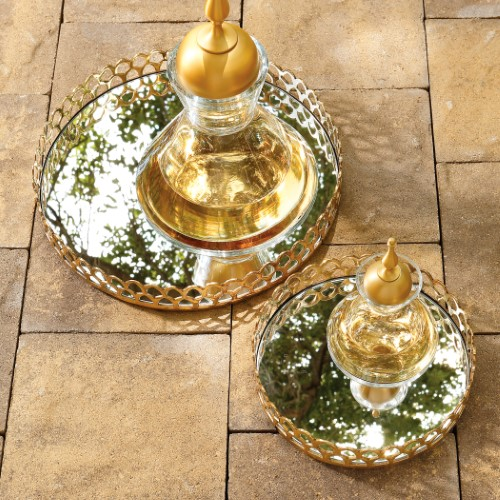 Double Arch Tray-Brass