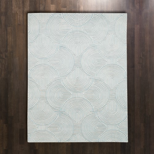 Arches Rug-Blue/Ivory