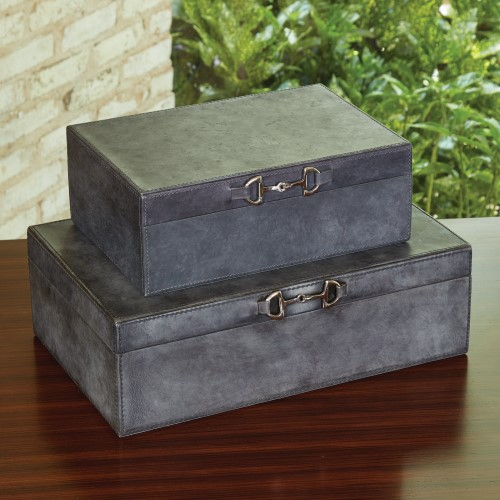 Stirrup Detail Box-Blue Wash