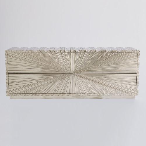 Linen Fold Cabinet-Silver