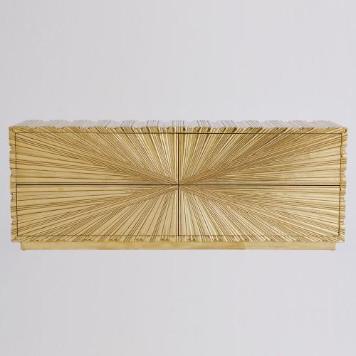 Linen Fold Cabinet-Brass